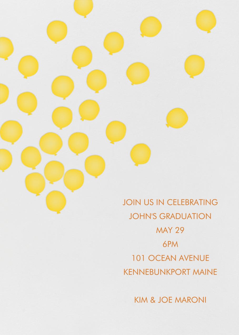 Balloons - Mustard - Linda and Harriett - Graduation party