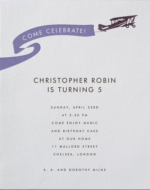 Biplane - Paperless Post - Kids' birthday