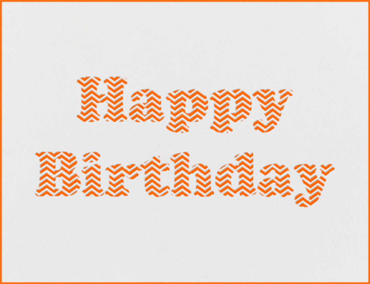 Chevron (Orange) - Paperless Post