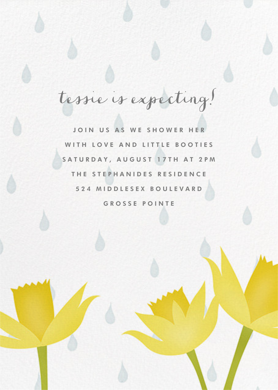April Showers - Paperless Post - Baby shower