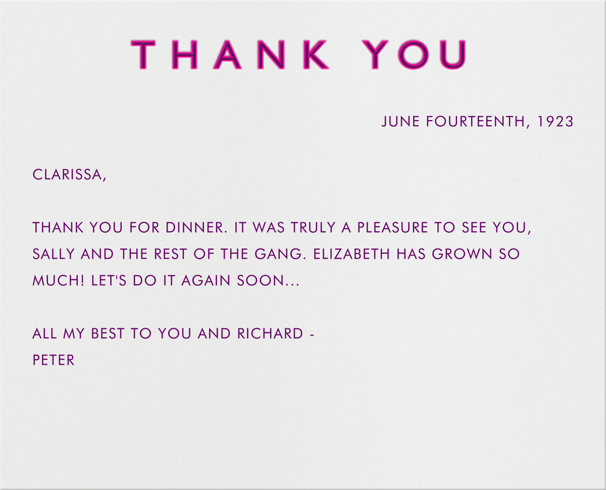 Double Thank You - Pink and Purple - Paperless Post