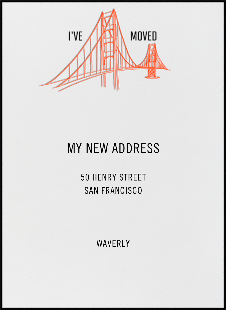 Golden Gate Bridge (Ivory) - Singular - Paperless Post