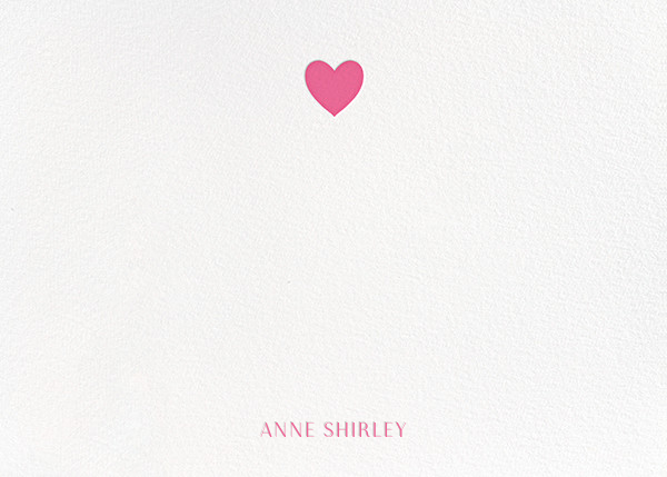 Heart Thank You - Pink - Paperless Post - Personalized stationery