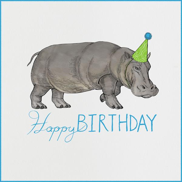 Hippopotamus (Ivory) - Paperless Post