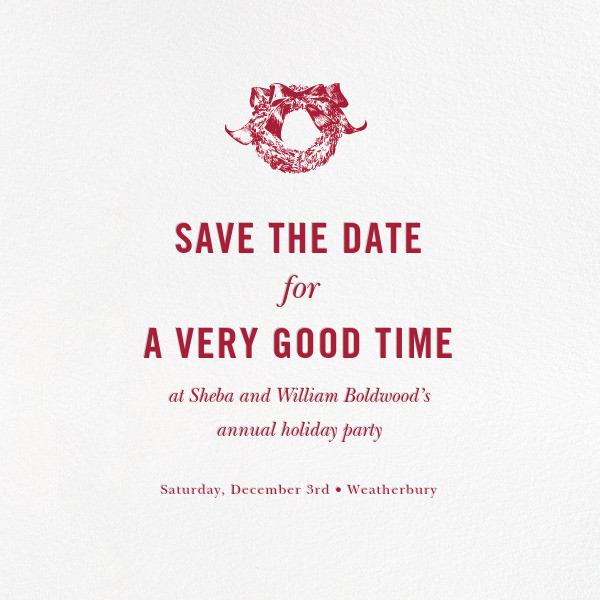 White (Save the Date) - Paperless Post - Save the date