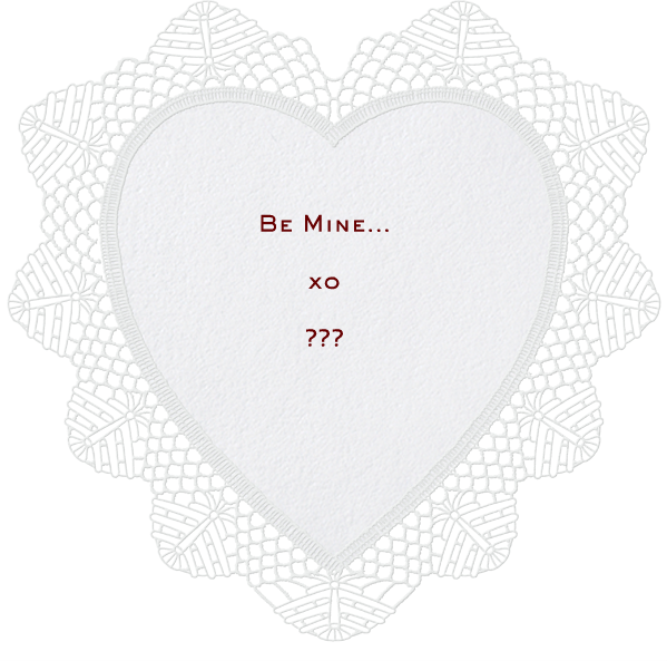 Lace Heart (White) - Paperless Post