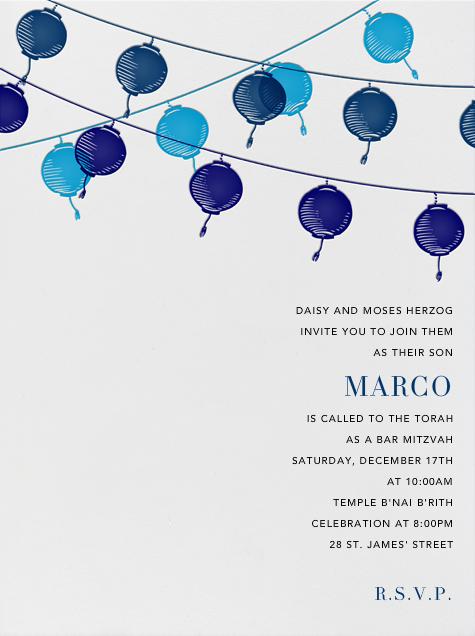 Lanterns - Blue - Paperless Post - Bar and bat mitzvah