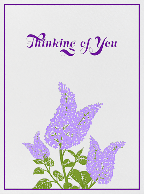 Lilac - Thinking of You - Paperless Post - Thinking of you