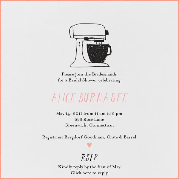 Little Miss Homemaker (Guava) - Mr. Boddington's Studio - Bridal shower