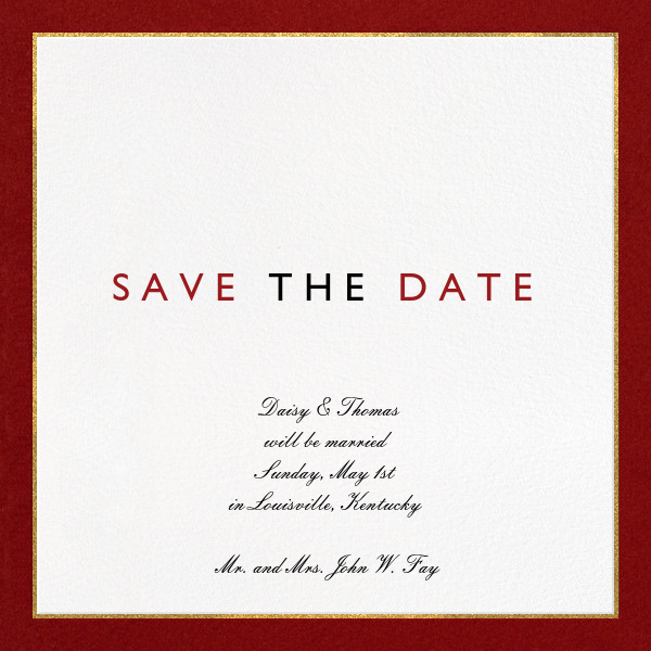 Oro - Red - Paperless Post - Party save the dates