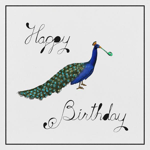 Peacock Birthday - Paperless Post