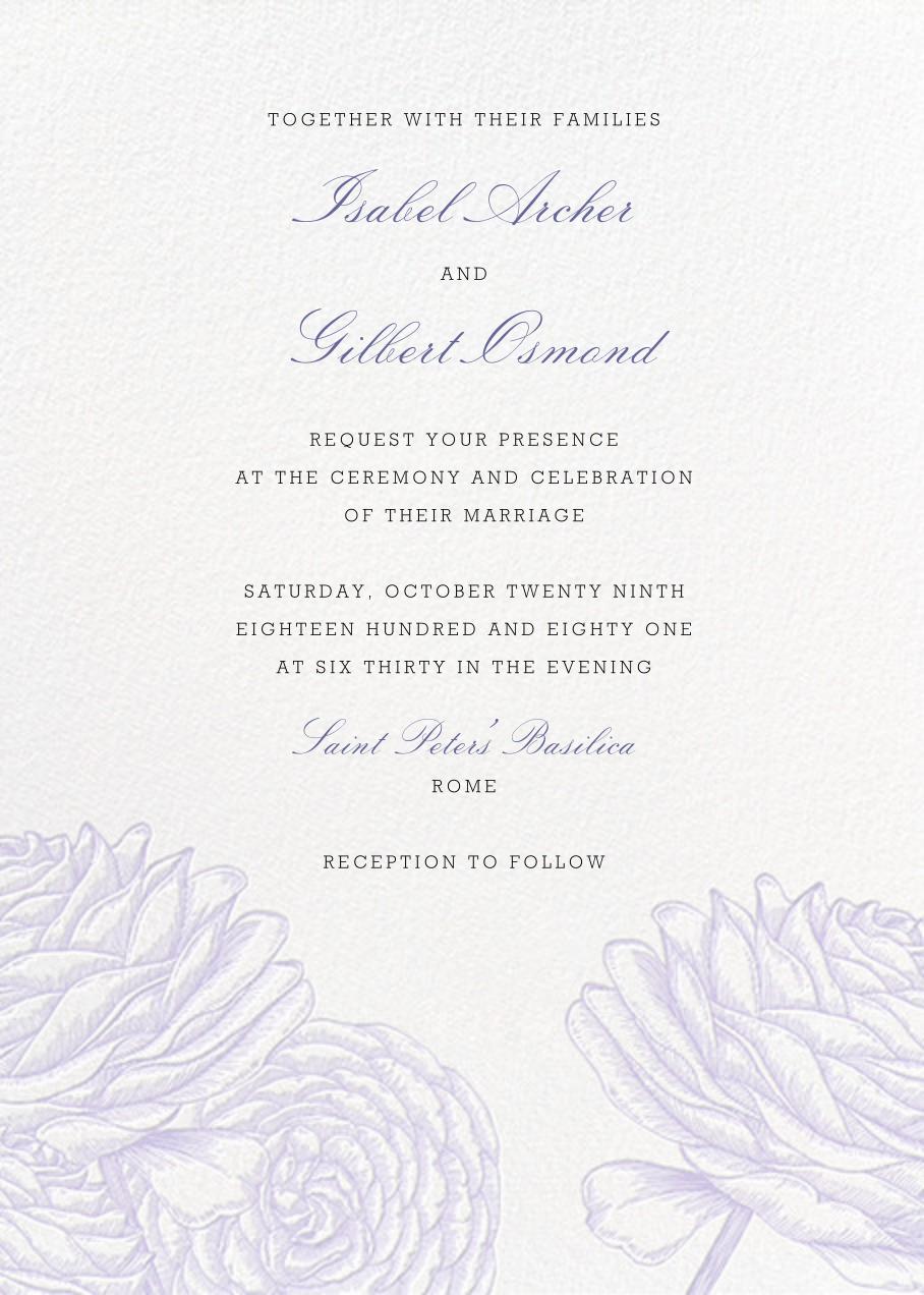 Ranunculus - Lavender - Paperless Post