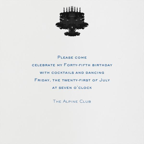 Rorschach Birthday Cake (Blue) - Paperless Post - Back