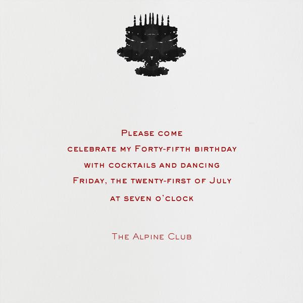 Rorschach Birthday Cake (Crimson) - Paperless Post - Back
