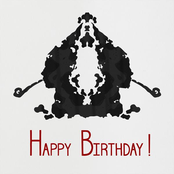 Rorschach Birthday Silhouette (Crimson) - Paperless Post