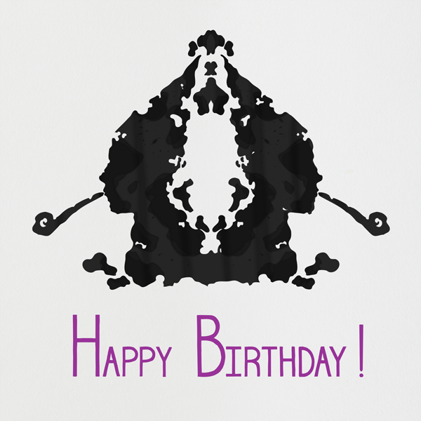 Rorschach Birthday Silhouette (Royal Purple) - Paperless Post - Free birthday eCards