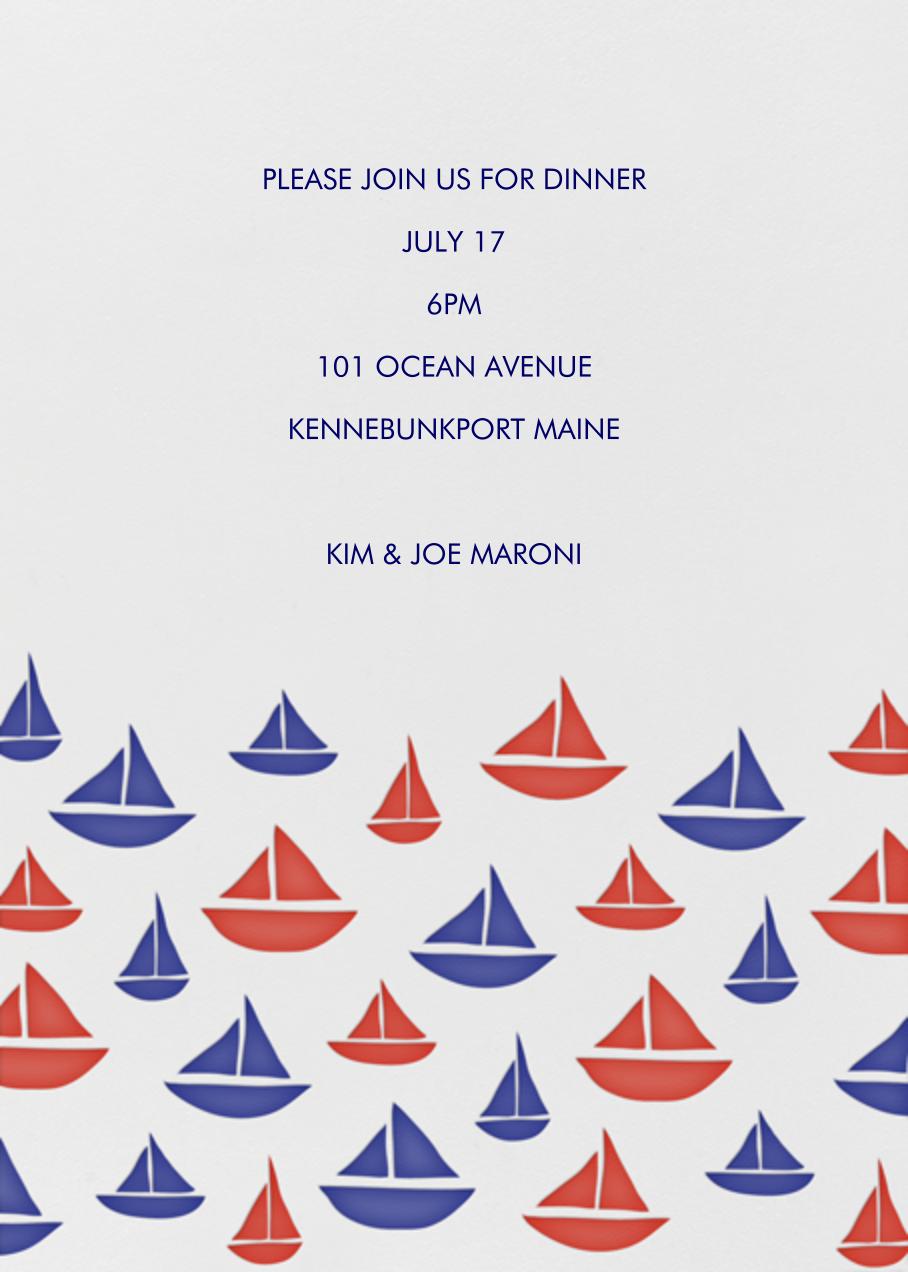 Sailboat Pattern - Linda and Harriett - Beach party