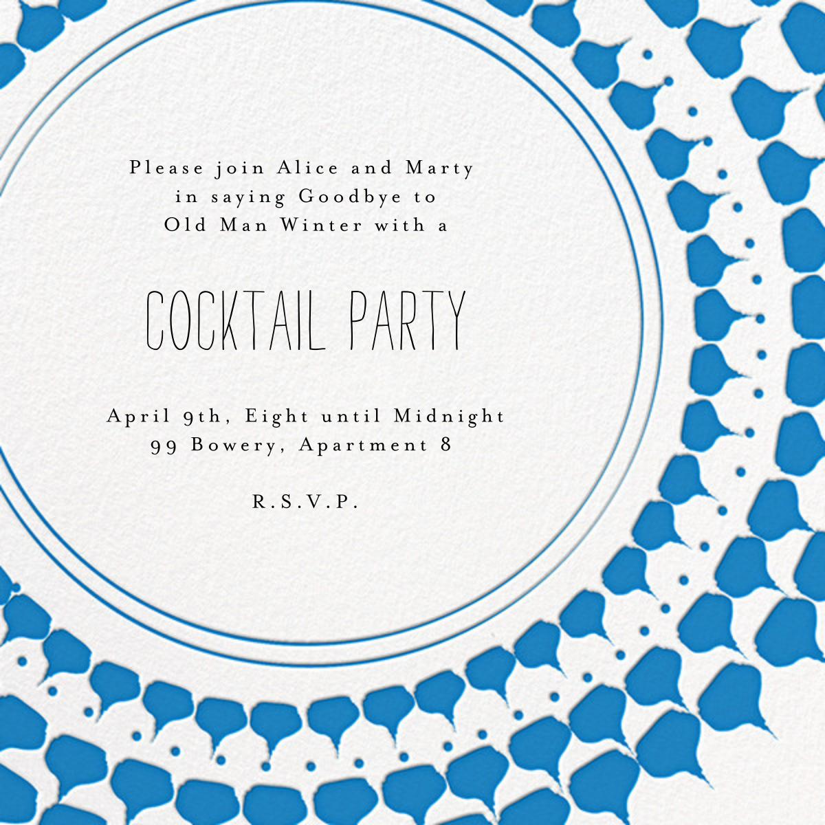 Spec in Capri - Blue - Mr. Boddington's Studio - Cocktail party
