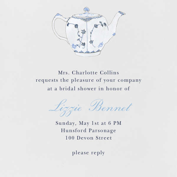 Tea Time - Paperless Post - Bridal shower