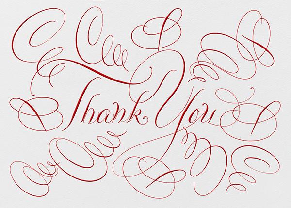 Thank You - Ivory/Red - Bernard Maisner - Thank you