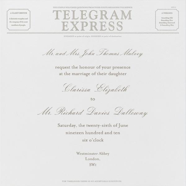 Travel - Ivory and Silver Telegram - Paperless Post - Boho