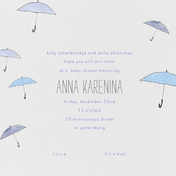 Umbrellas - Paperless Post - Baby shower