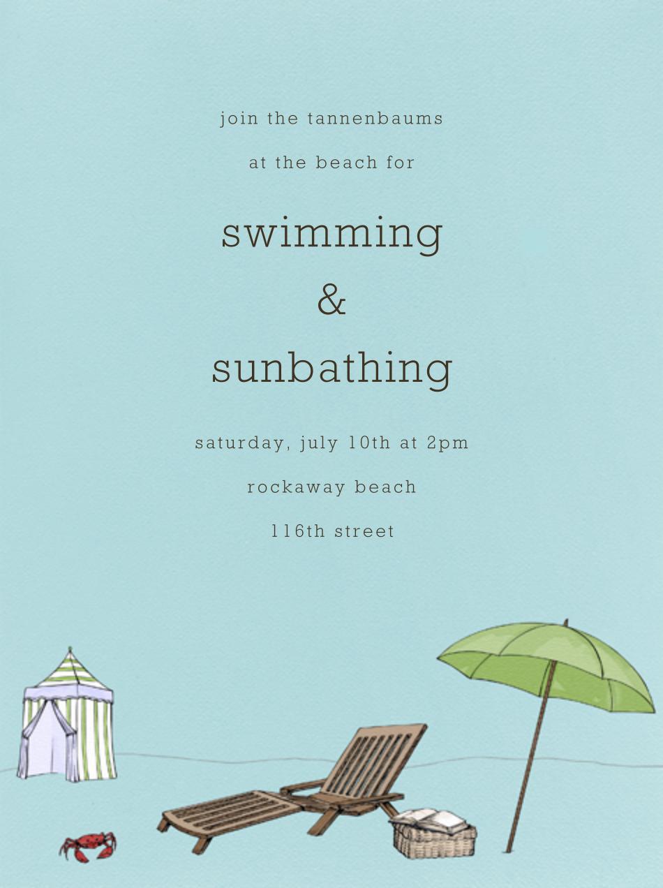 Beach Vignette - Light Blue - Paperless Post - Summer entertaining