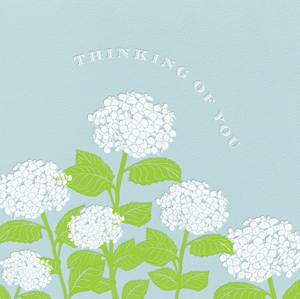 Hydrangea - Thinking of You (Light Blue) - Paperless Post - Sympathy