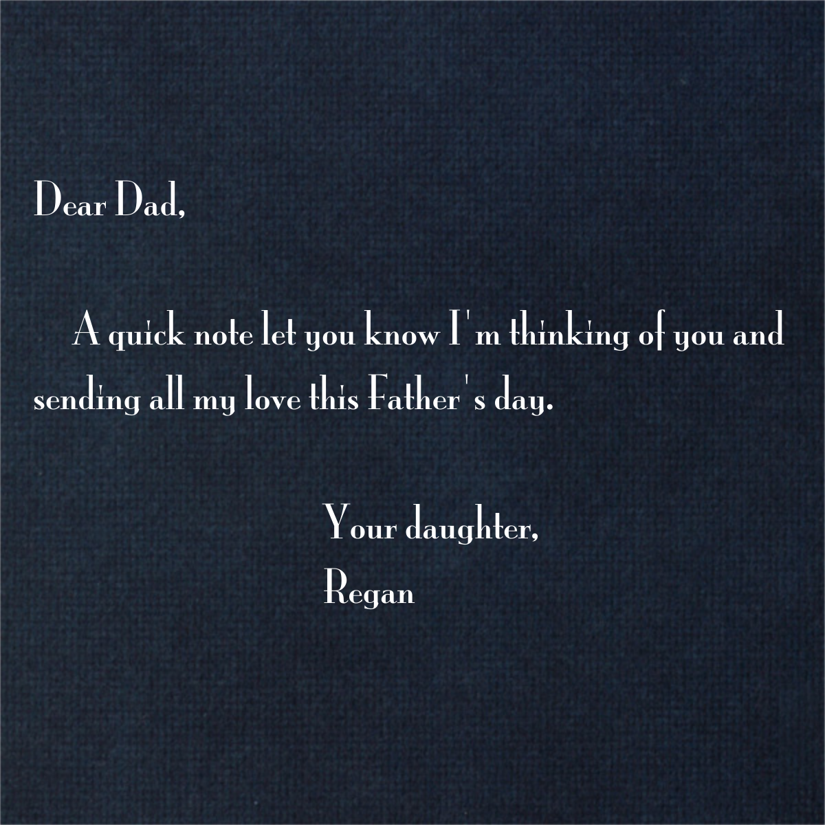 Loafers and Brogues (Midnight) - Paperless Post - Father's Day - card back
