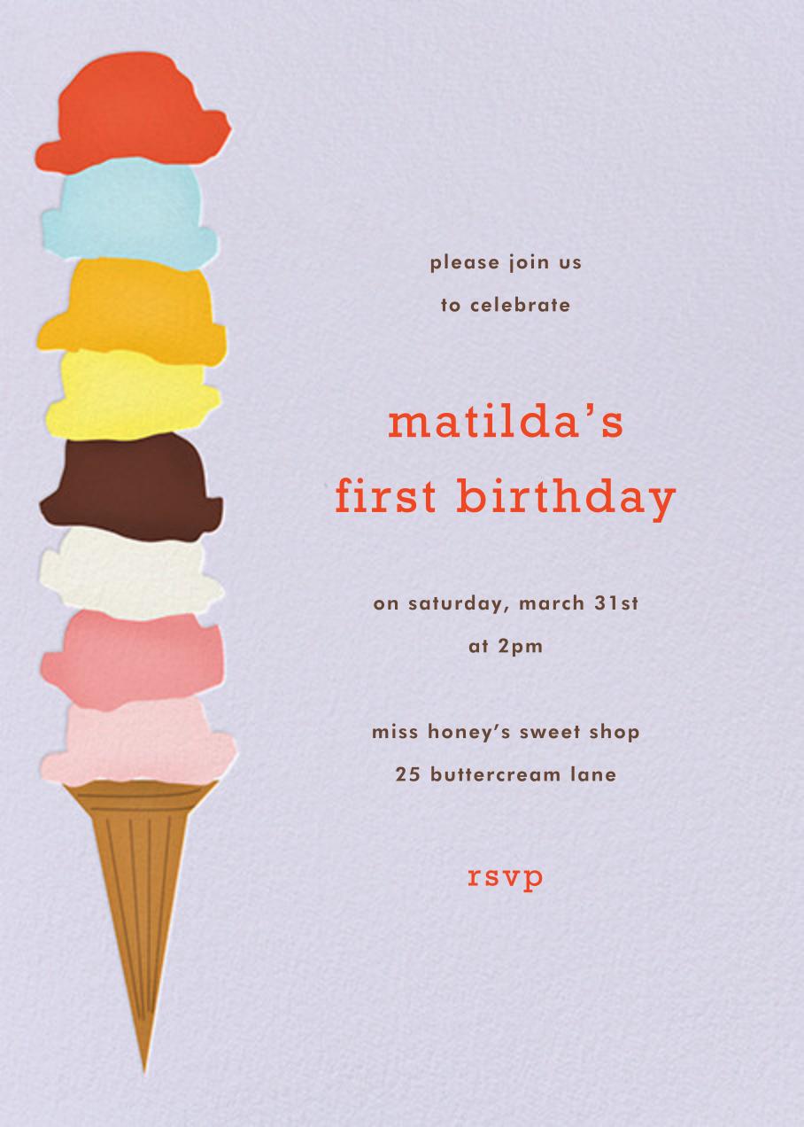 Ice Cream Cone - Taro - Paperless Post - Kids' birthday