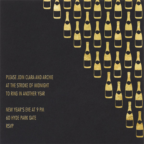 Champagne Gold (black) - Paperless Post - New Year's Eve