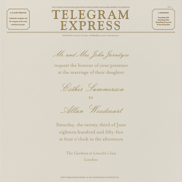 Travel - Cream and Sepia Telegram - Paperless Post