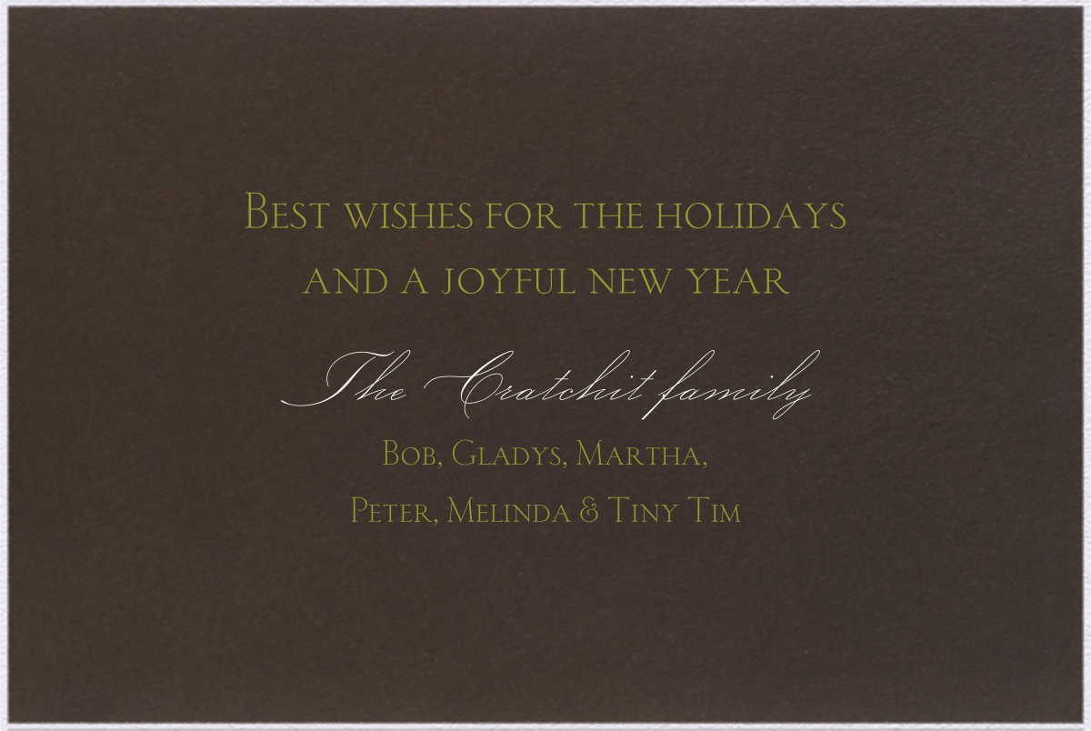 Valrhona Tartan - Paperless Post - Holiday cards - card back