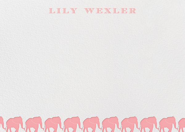 Pink Elephants Horizontal - Paperless Post - Kids' stationery
