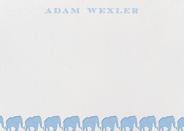 Blue Elephants Horizontal - Paperless Post