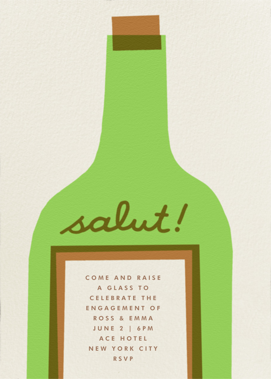 Wine Salut - Green - The Indigo Bunting - Engagement party