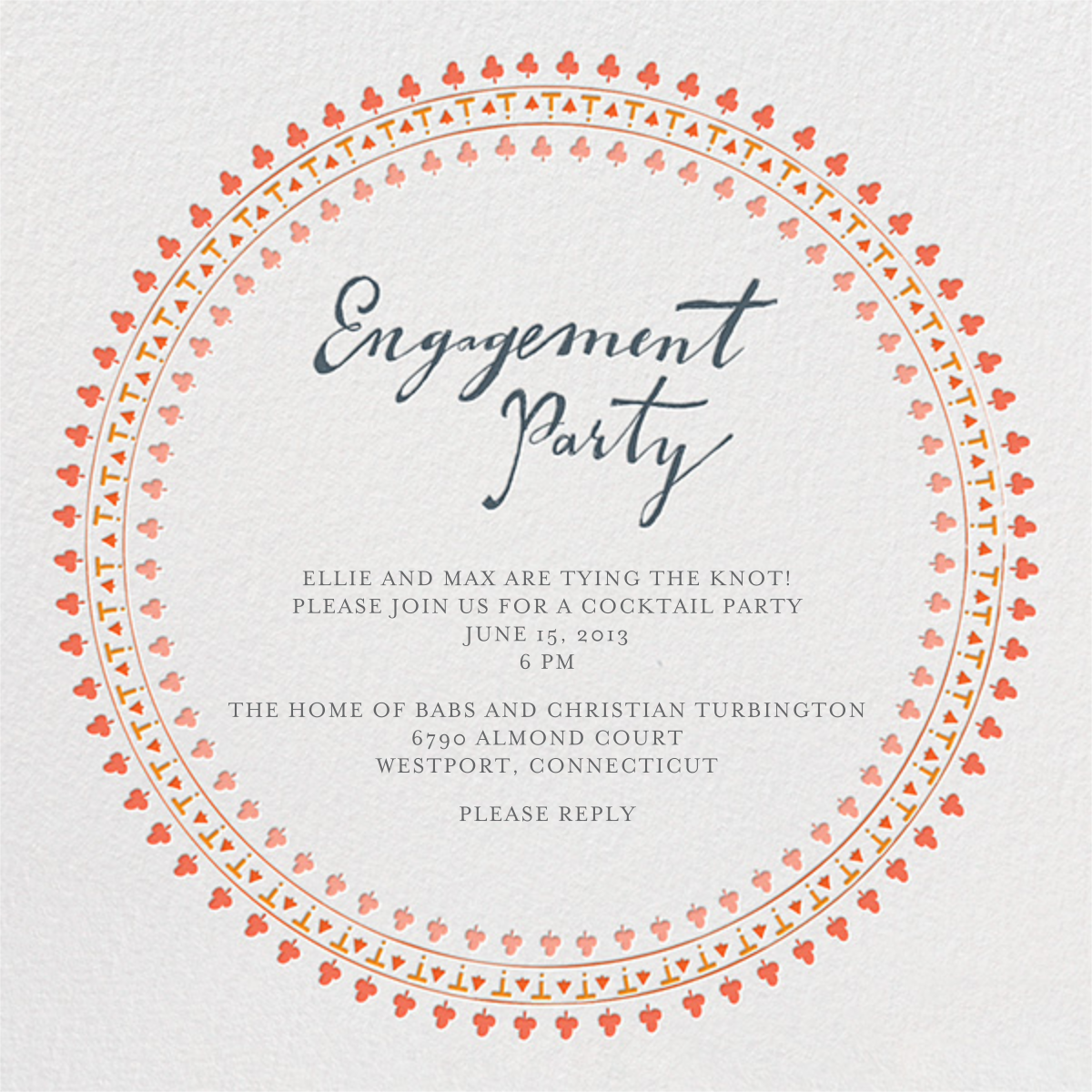 Are You Engaged - Pinks - Mr. Boddington's Studio - Engagement party