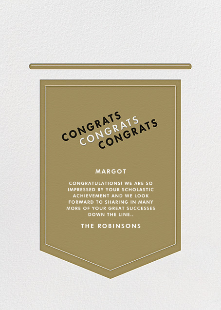 Leagues - Gold - Paperless Post - Congratulations - card back