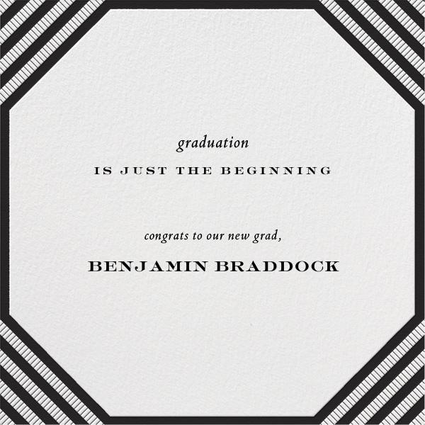 Claridge (Square) - Black - Paperless Post - Graduation