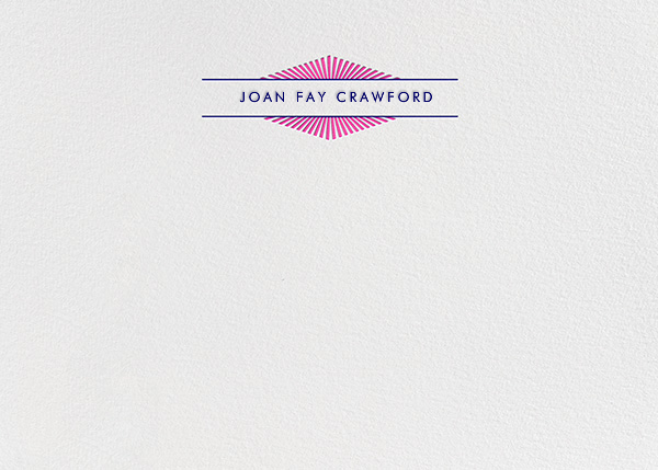 Lamarr - Bright Pink  - Paperless Post - Personalized stationery