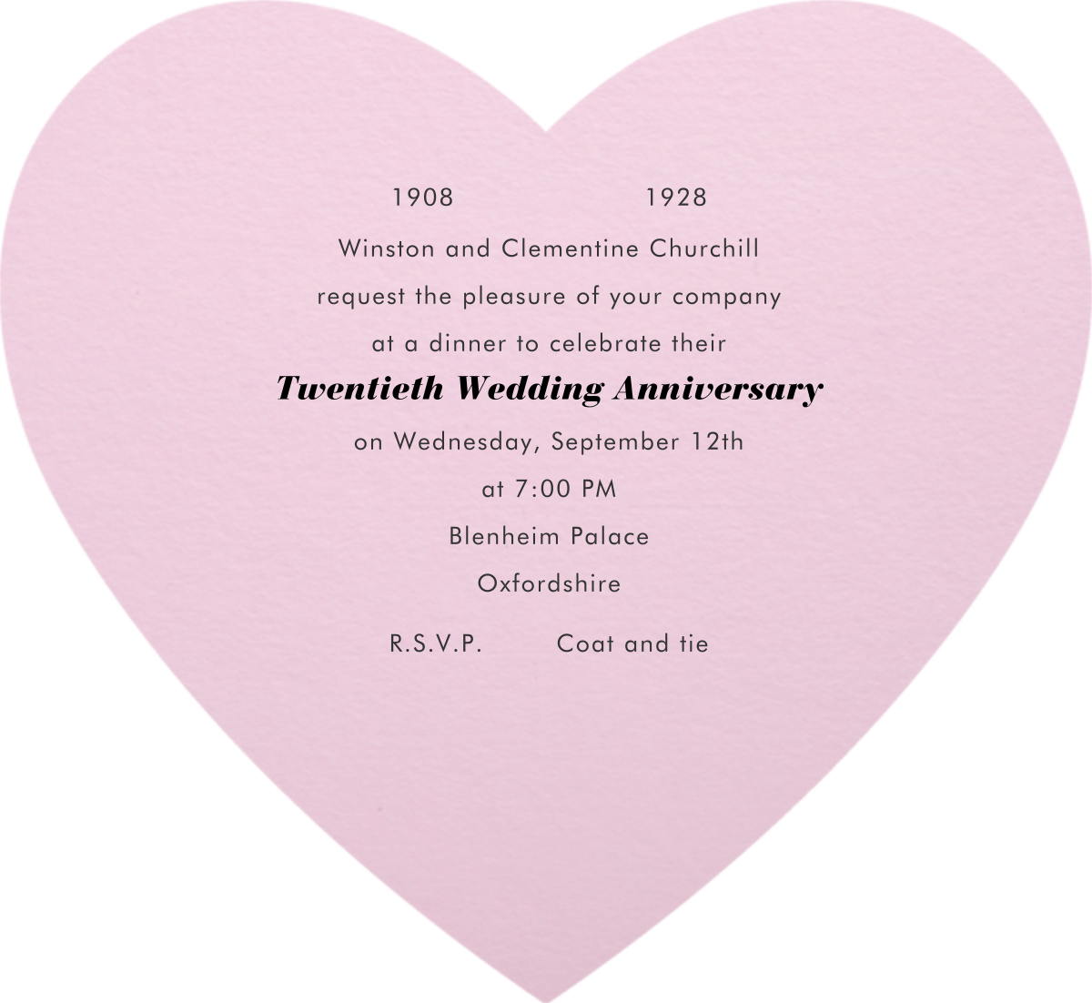 Full Bleed Heart (Pink) - Paperless Post - Anniversary party - card back