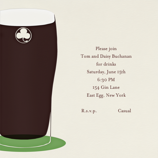 Pint of Stout - Paperless Post - Cocktail party