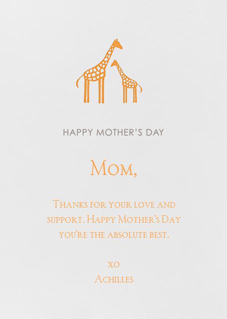 Giraffe - Linda and Harriett - Mother's Day