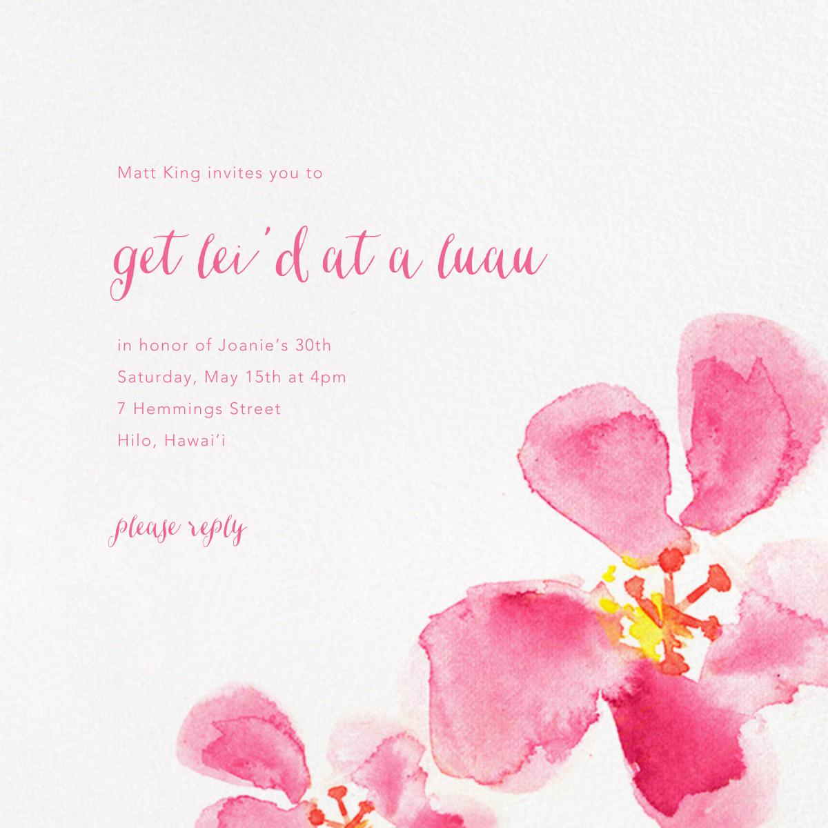 Hawaiian Flower - Paperless Post - Beach party