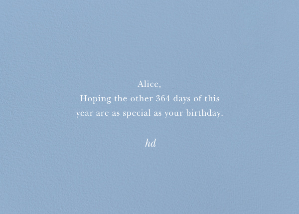 Happy Birthday - Blue - Bernard Maisner - Birthday - card back