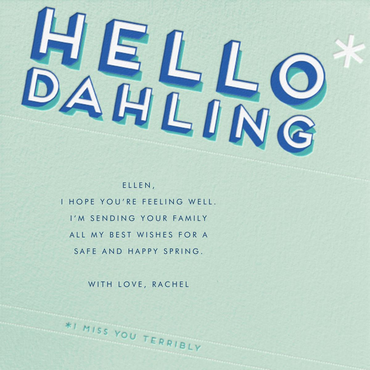 Hello Dahling - Paperless Post