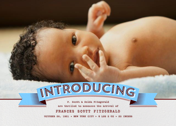 Introducing Banner - blue - Paperless Post - Birth
