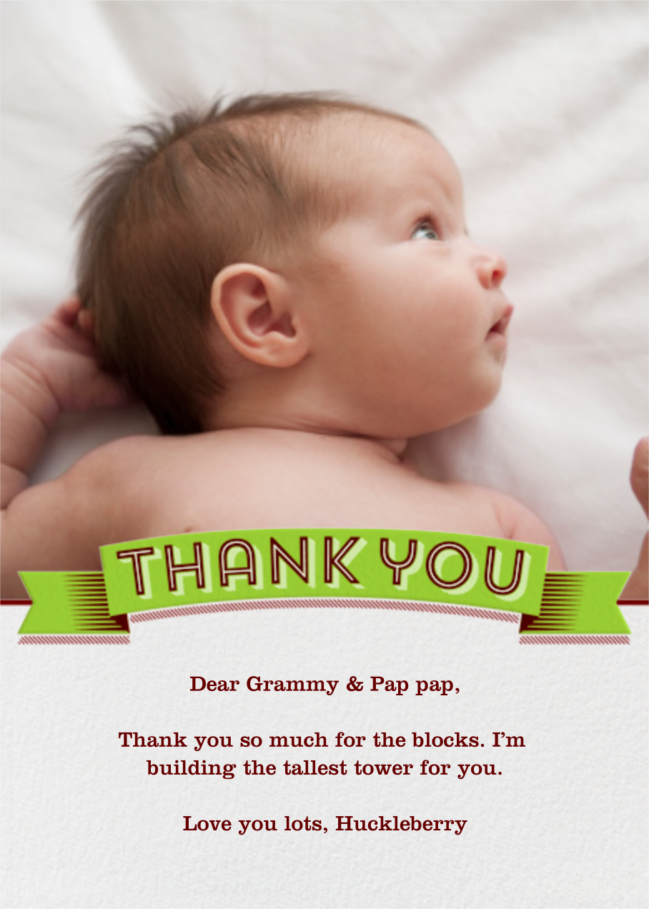 Thank You Banner - Paperless Post - Baby and kids'