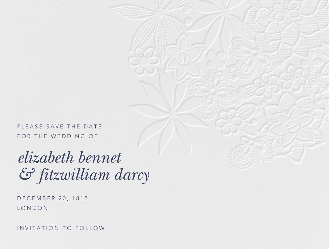 Floral Guipure (Save The Date) - Blind Deboss - Oscar de la Renta - null