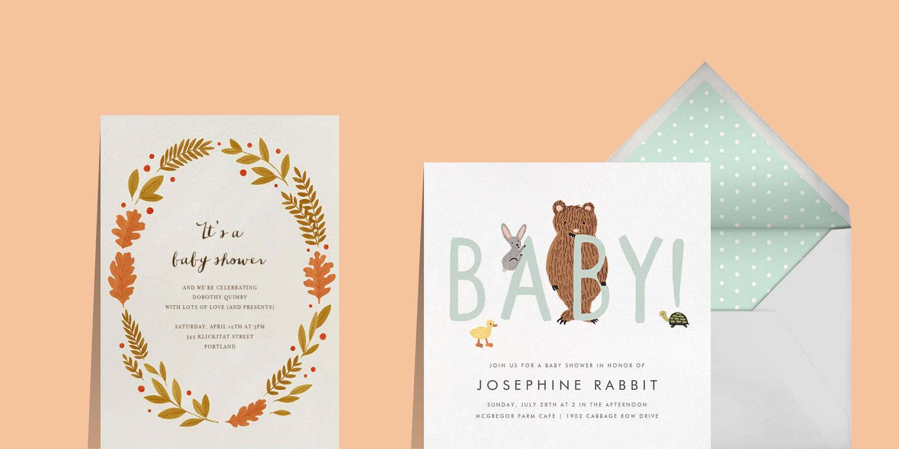 online invitations and cards - custom paper designs
